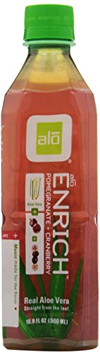 Alo Enrich Aloe Vera Beverage, Pomegranate & Cranberry, 16.9 Ounce (Pack Of 12)