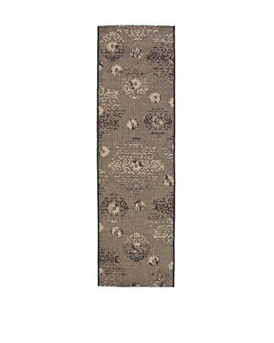 Tapis a Porter Alfombra Vetus Negro/Beige 70 x 240 cm