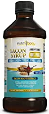 nutribody 100% PURE Yacon Syrup – 100% Natural Raw Syrup from Yacon Root Extract, Natural Source of…