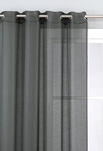 Hlc Me 2 Piece Sheer Window Curtain Grommet Panels