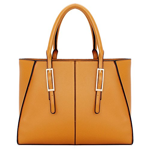 [Fleeting Time Womens Fashion Simple Luxury Popular Pure Color Handbag(Brown)] (Ny Costumes Rental)