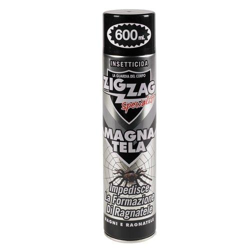 Zig Zag Specialist - Magna Tela - Insetticida per ragni e impedisce la formazione di ragnatele 600ml