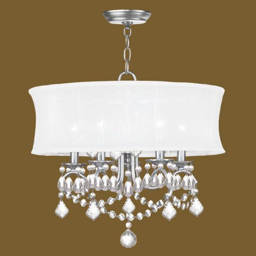 Livex Lighting 6305-91 Newcastle Brushed Nickel Chandelier