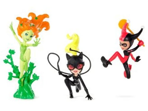 Polly Pocket SDCC 2012 Exclusive DC Comic Villainess 3 Pack - Poison Ivy, Catwoman & Harley Quin