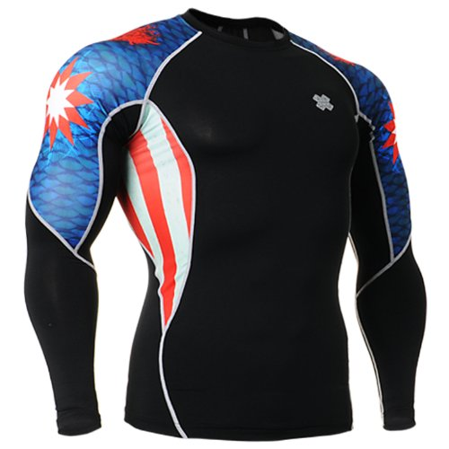 Fixgear Mens Womens Skin Running Shirt Compression Top Long Sleeve S ~ 2XL