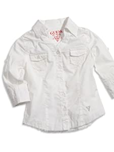 GUESS Kids Girls Little Girl Woven Top with Lace Trim from GUESS Kids