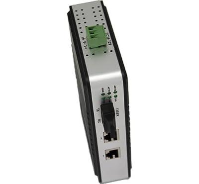 UTEK UT-2672SM/MM 10/100M to SC/ST/FC Fiber Optic Industrial Media Converter -2 TCP/IP Port