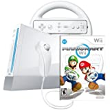 Wii Console with Mario Kart Wii Bundle-White - Bundle Edition