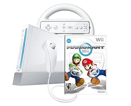 Wii Console with Mario Kart Wii Bundle-White