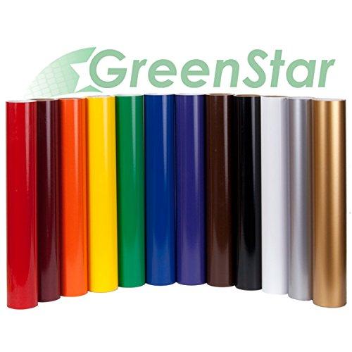 Greenstar 12 Roll Sign Vinyl 12 Color Starter Pack 24 X 5