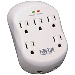 TRIPP LITE SK5TEL-0 Surge Protector Wallmount Direct Plug in 5 Outlet RJ11 1080 Joule