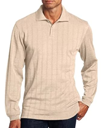 Van Heusen Mens Polo Shirt Big Tall Size Xlt Long Sleeve