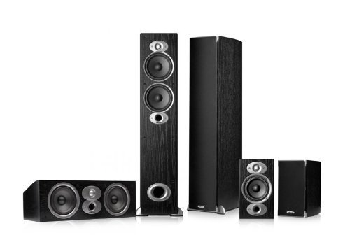 Polk Audio Rti A5 5.0 Home Theater Speaker Package (Black)