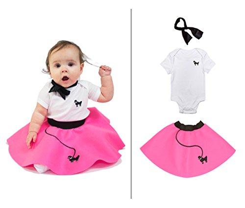 hip hop 50s shop baby infant 3 piece poodle skirt costume