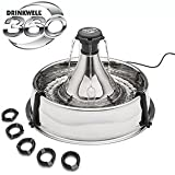 Drinkwell® 360 Stainless Steel Pet Fountain for Small/Medium-sized Dogs and Cats