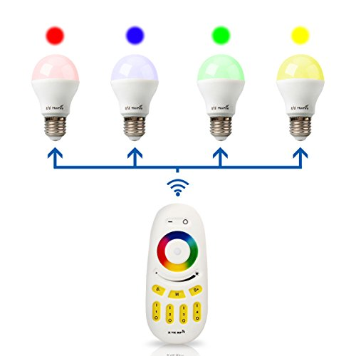 ThorFire G1 Color Changing LED Blub RGB Dimmable Light E27 6W(50W) Touch Controlled Remote Combo 4Pcs Bulb (Color Led Light Blubs compare prices)