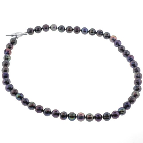 Freshwater Pearl Fashion Necklace - Multicolor - 18'' Length, 8-9mm Pearls