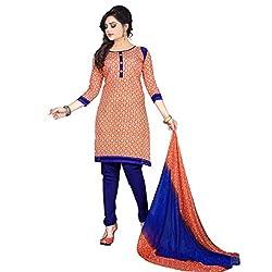 Aagaman Fashion Art Silk Unstitched Salwar Suit (AFSDHSK2012_Orange)
