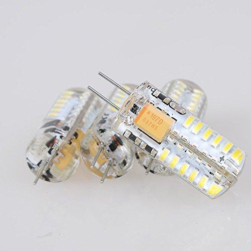 Topluck 4Pcs G4 Base 48 Led Light Bulb Lamp 3 Watt Ac Dc 12V/10V-24V White Undimmable Equivalent To 20W Incandescent Bulb Replacement