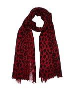 Cortefiel Fular Clasic Print Animal Scarf (Rojo)