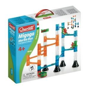Impressive Quercetti 45-Piece Marble Run with Real Glass Marbles and Durable Transparent Tubes Jouets, Jeux, Enfant, Peu, Nourrisson