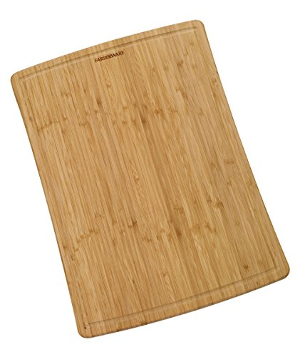 Farberware Large Bamboo Cutting Board with Drip Groove Trench, 15-Inch-by-21-Inch (Wood Cutting Board Large compare prices)