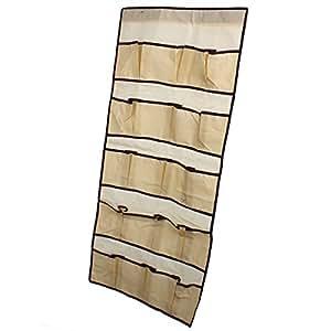 Home Garden Sac De Rangement Pliable Suspendre Sur Une Porte Avec 20 Compartiments En Tissu