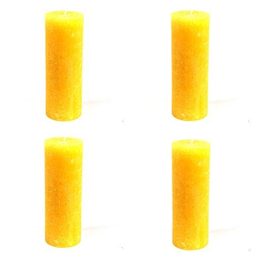 4-x-rustic-i-singari-spuntati-candele-oe-68-x-190-mm-giallo-set-di-4-candele-i-singari-spuntati-heg-