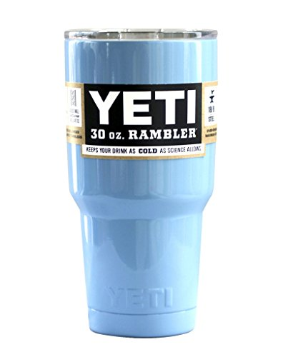Powder Coated 30oz Light Blue YETI Rambler