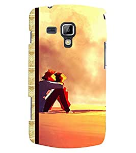 Fuson 3D Printed Couple Designer back case cover for Samsung Galaxy S Duos 2 S7582 - D4347