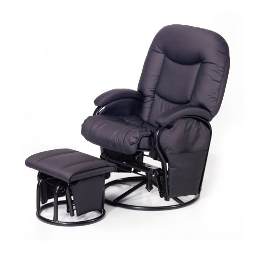 687024 Stillstuhl Metal Glider Recline black