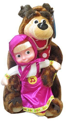 Masha and the Bear Set Russian Talking Toy Popular Cartoon Character From