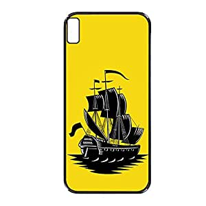 Vibhar printed case back cover for HTC Desire 816 YellowShip