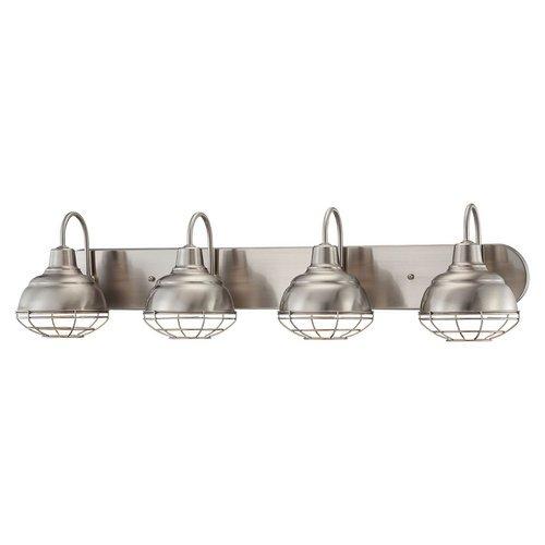 Millennium Lighting 5424 Neo-Industrial 4 Light Bathroom Vanity Light, Satin Nickel