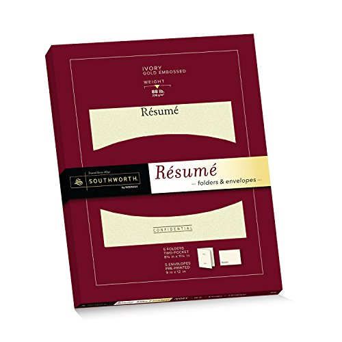 southworth exceptional resume folders envelopes packet