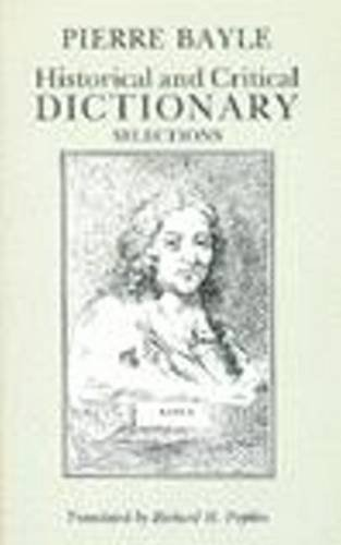 Historical and Critical Dictionary Selections087220152X : image