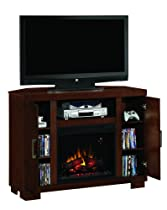Hot Sale Media Console Electric Fireplace Walnut Digital Heater
