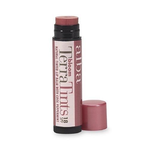 Alba Terra Tints Natural Tinted Lip Balm SPF8, Bloom 0.15 oz (4.2 g)
