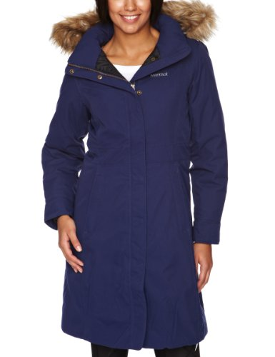 Marmot Women's Chelsea Waterproof Down Coat - Navy, Large