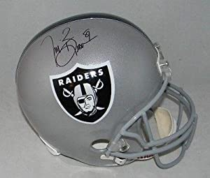 Autographed Tim Brown Helmet - Oakland Raiders F s Full Size Gtsm - Autographed NFL... by Sports Memorabilia