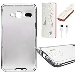 DMG LED Flashing Call Notification TPU Back Cover Case for Samsung Galaxy A5 (Black) + 10000 mAh Power Bank