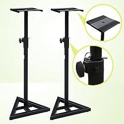 Zeny® Studio Monitor Speaker Stand Height Adjustable Pair Concert Band Dj Studio by Zeny