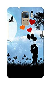CimaCase Couple Kissing Silhouette Designer 3D Printed Case Cover For Huwaei Honor 7