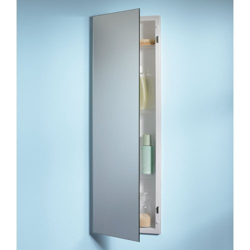 "Nutone 735M34Wh Specialty Pillar Recessed 12""W X 36""H Mirrored Single Door Medicine Cabinet"