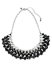 M&S Collection Multi-Faceted Bead & Diamanté Collar Necklace