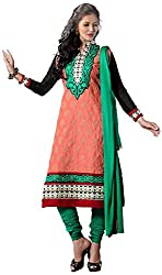Shyam Fab Women's Cotton Dress Material (Orange)