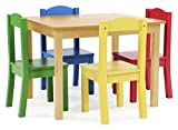 Tot Tutors Kids Table and 4-Chair Set, Primary Colors