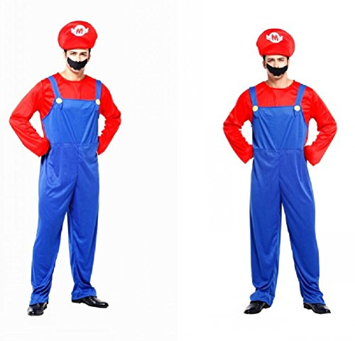 Ponce Adult Halloween Cosplay Costumes Stage Clothes Mario Super Mario