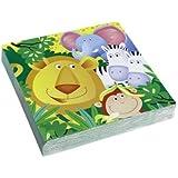 Riethmueller Lot de 20 serviettes Jungle Party 33 x 33cm