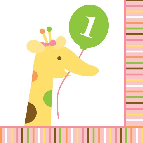 Creative Converting-Sweet 1st Birthday Girl Napkins (Beverage)